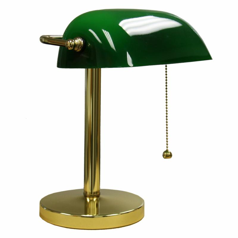 ORE International 12.5 in. Bankers Lamp - KT-188-GR