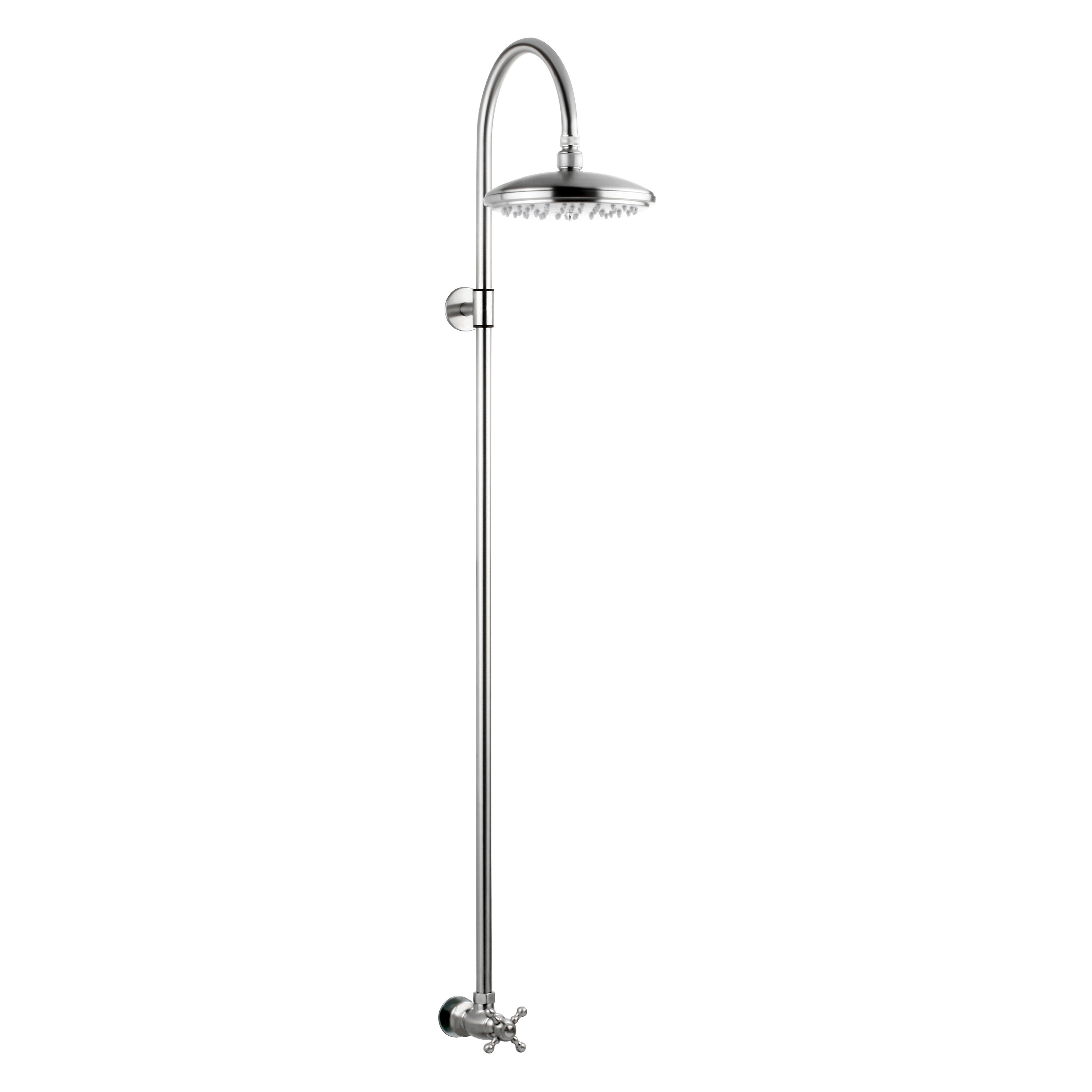Outdoor Shower Company Stainless Steel Wall Mount Shower | Hayneedle