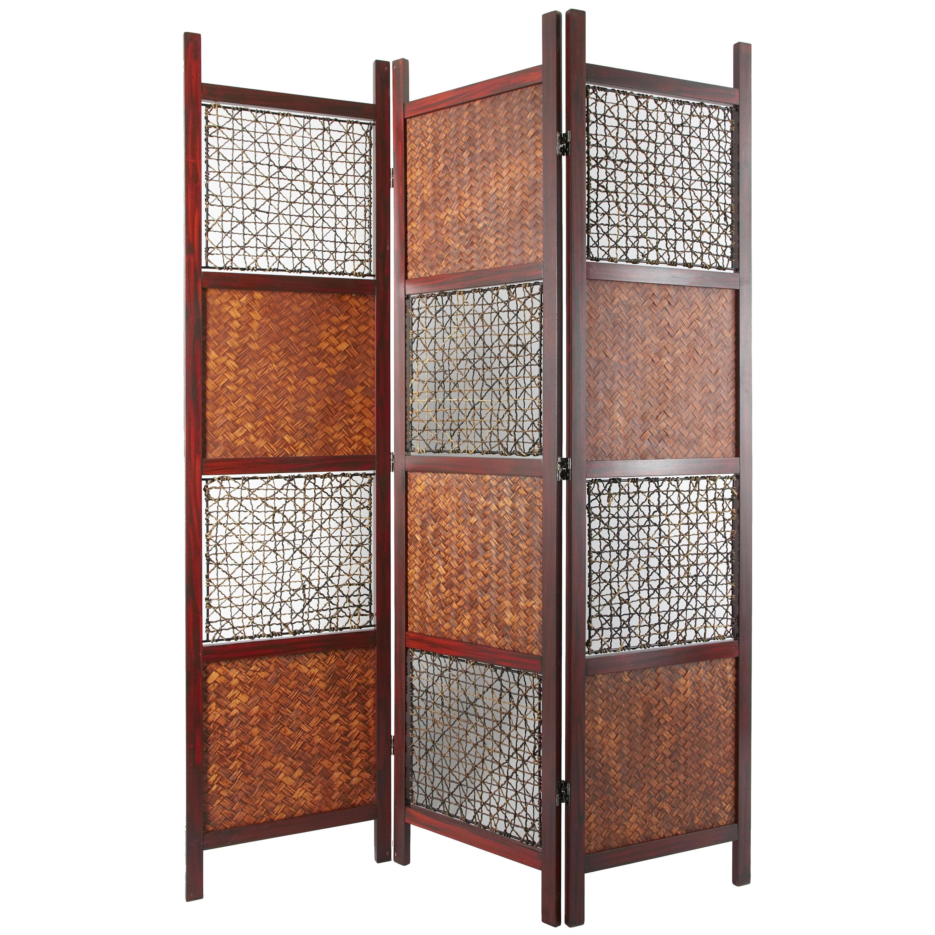 Tranquility Wooden 4 Panel Shutter Screen Room Divider In Black Hayneedle