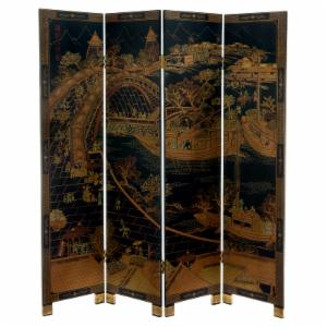 Oriental Furniture Ching Ming Festival Shoji Screen Room Divider