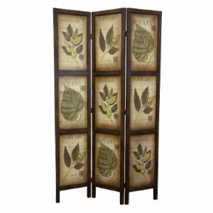 Oriental Furniture 6 ft. Botanic Printed Double Sided Room Divider