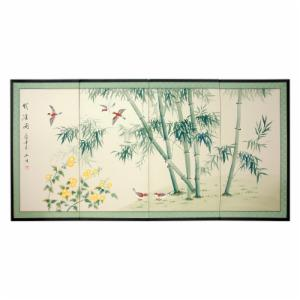 Oriental Unlimited Bamboo and Five Birds Wall Art