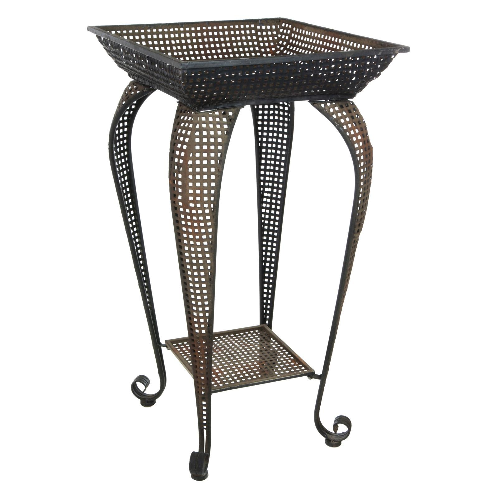 Oriental Furniture Perforated Square Plant Stand