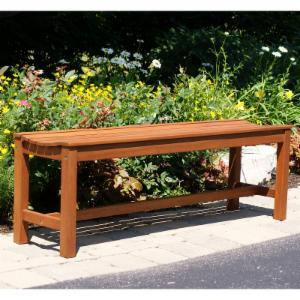 Outdoor Interiors 55 in. Outdoor Backless Bench