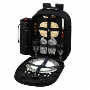 Picnic At Ascot Classic Black Picnic Backpack for 2