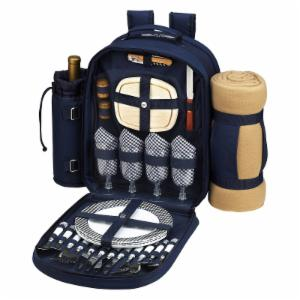 Picnic At Ascot Bold Picnic Backpack with Blanket for 4