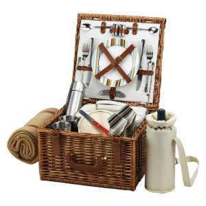Picnic At Ascot Cheshire Wicker Picnic Basket for 2 - Santa Cruz