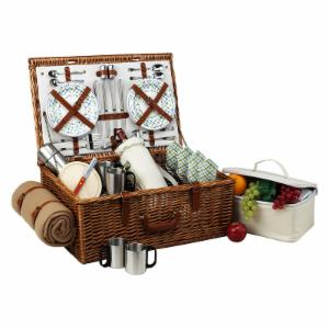 Picnic At Ascot Dorset Wicker Picnic Basket for 4 - Gazebo