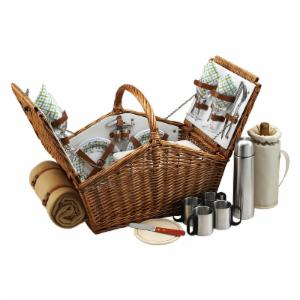 Picnic At Ascot Huntsman Wicker Picnic Basket for 4 - Gazebo