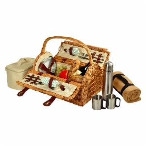 Picnic At Ascot Sussex Wicker Picnic Basket for 2 - Gazebo