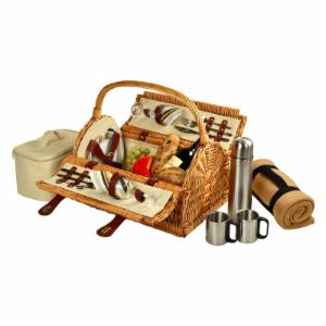 Picnic At Ascot Sussex Wicker Picnic Basket for 2 - Santa Cruz
