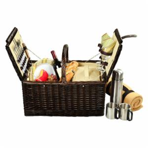 Picnic At Ascot Surrey Wicker Picnic Basket for 2 - Hamptons