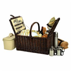 Picnic At Ascot Buckingham Picnic Basket for 4 - Hamptons