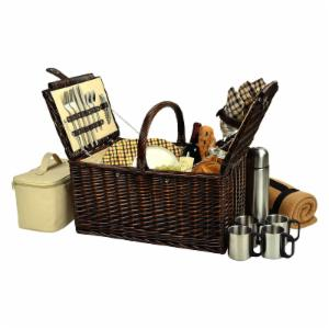 Picnic At Ascot Buckingham Picnic Basket for 4 - London Plaid