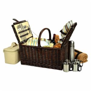 Picnic At Ascot Buckingham Picnic Basket for 4 - SC Stripe