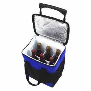 Picnic At Ascot 32 Can Rolling Cooler with Wine Bottle Divider