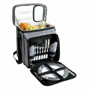 Picnic At Ascot Houndstooth Picnic Cooler for Two
