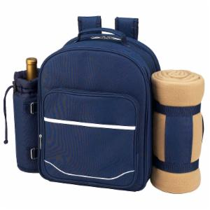Picnic At Ascot Picnic Backpack for 4 with Blanket