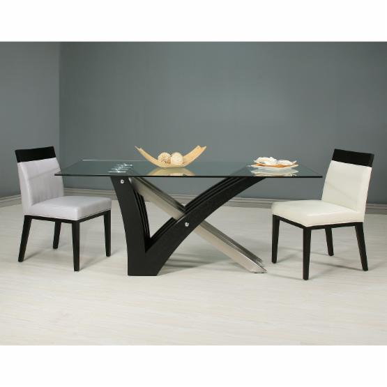 Impacterra Furniture Akasha 5 Piece Wenge Dining Table Set with Elloise Chairs