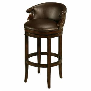 Impacterra Princetown Swivel Counter Height Stool - Distressed Cherry