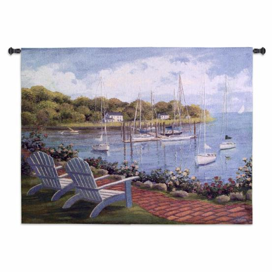 Fine Art Tapestries Harborside Reflection Wall Tapestry