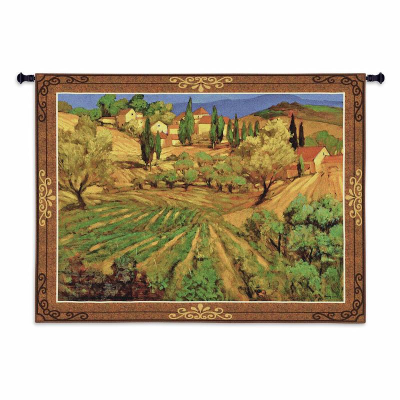 Fine Art Tapestries Mount Ventoux Wall Tapestry - 4144-WH