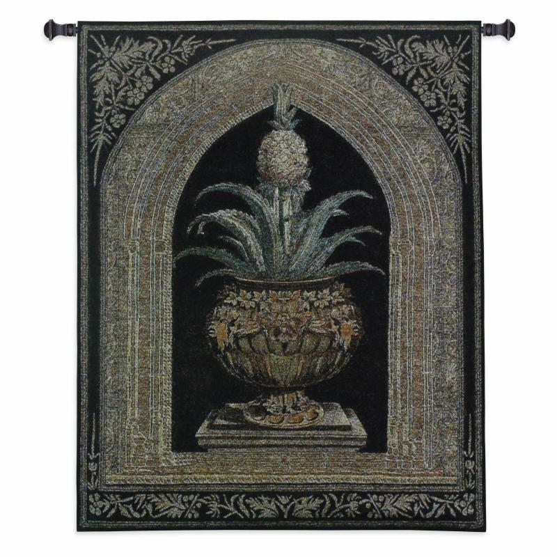Fine Art Tapestries Pineapple Urn Wall Tapestry - 3430-WH