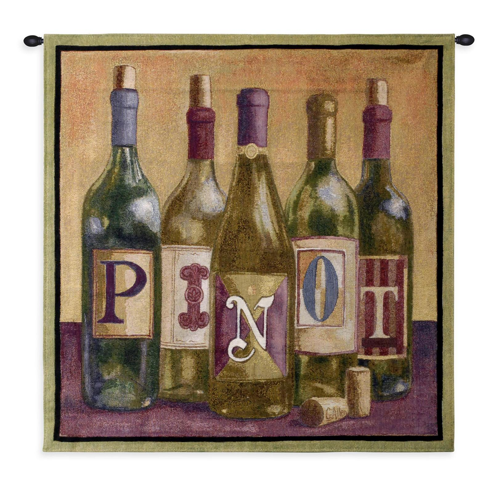 Fine Art Tapestries Pinot Wall Tapestry - 3790-WH