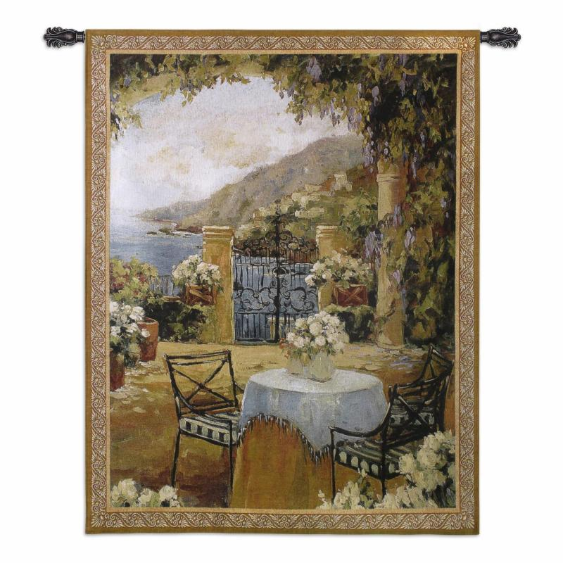 Fine Art Tapestries Seaside Terrace Wall Tapestry - 2461-WH