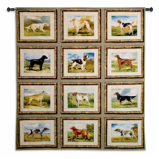 Fine Art Tapestries Sporting Dogs Wall Tapestry