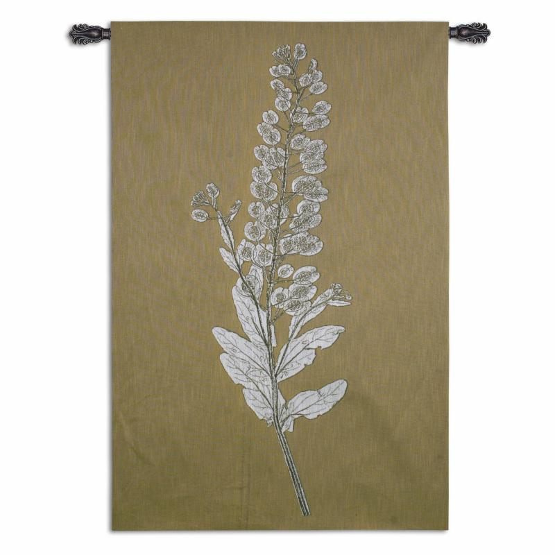 Fine Art Tapestries Taupe Nature Study III Wall Tapestry - 6448-WH