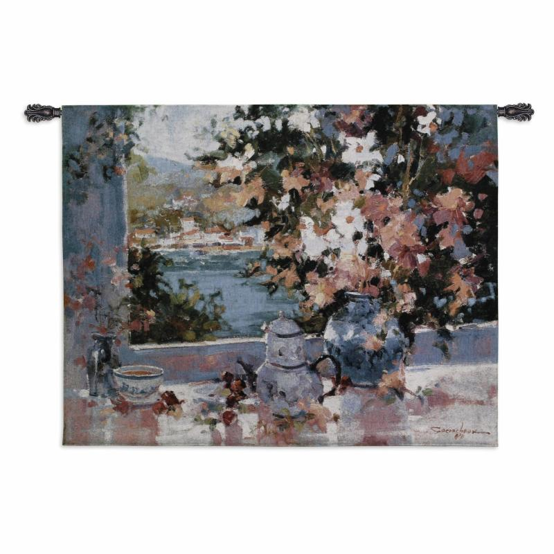Fine Art Tapestries Window View Wall Tapestry - 2208-WH