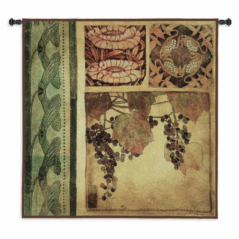 Fine Art Tapestries Arts and Crafts I Wall Tapestry - 1712-WH