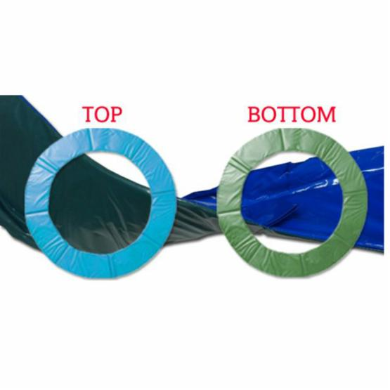 SkyBound Reversible 2 in 1 Blue and Green Standard Trampoline Pad for 12 ft. Frame