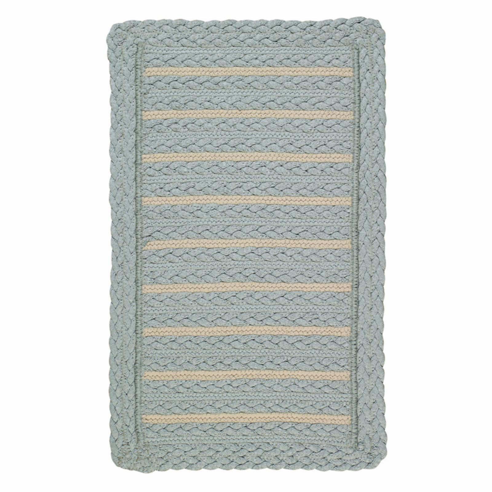 Boathouse 0257 Cross Sewn Braided Rectangle Area Rug - Blue - 0257XS05060506400