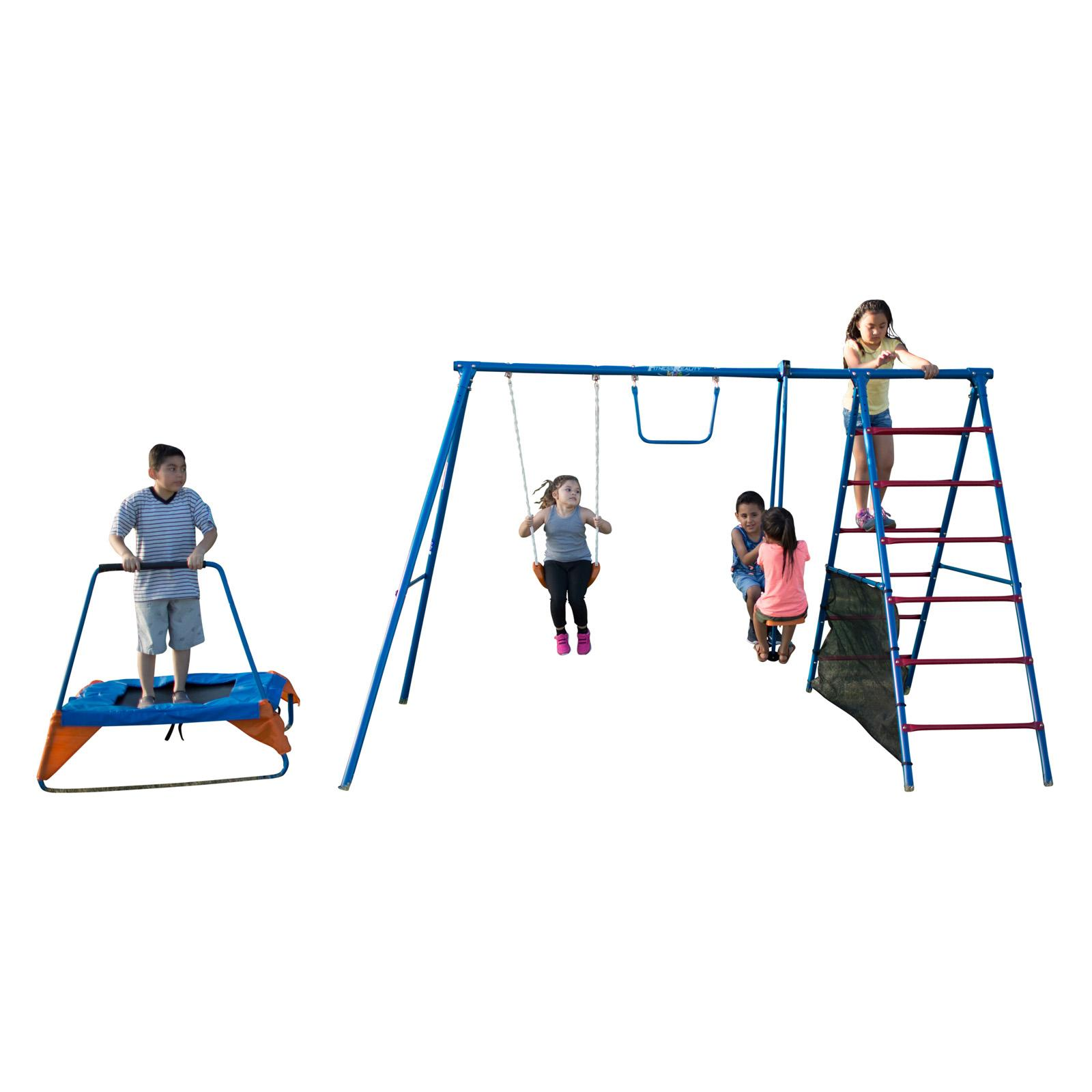 Fitness Reality Kids Fun Series Metal Swing Set - 8410