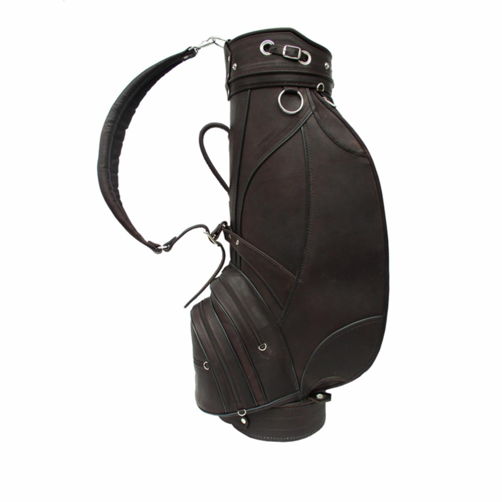 Piel Leather Deluxe 9 in. Golf Bag - Chocolate