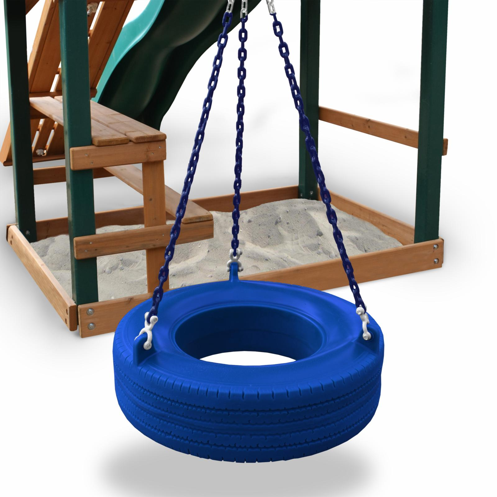 Gorilla Playsets Commercial Grade Tire Swing Green - 04-0...