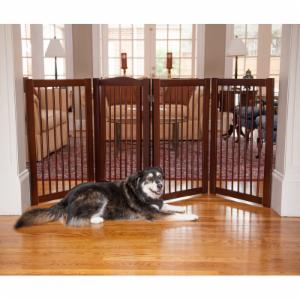Primetime Petz 360° Configurable Gate with Door 36 in. - Walnut