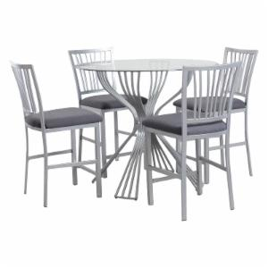 Glass Dining Room Sets on Hayneedle - Round Glass Dining Table