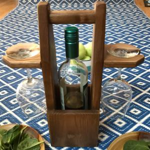 Pomegranate Solutions Rustic Wine Caddy