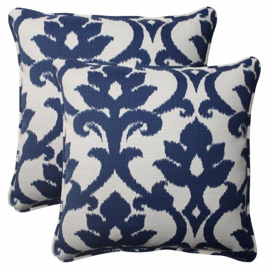 Pillow Perfect Bosco Square Throw Pillow - Set of 2