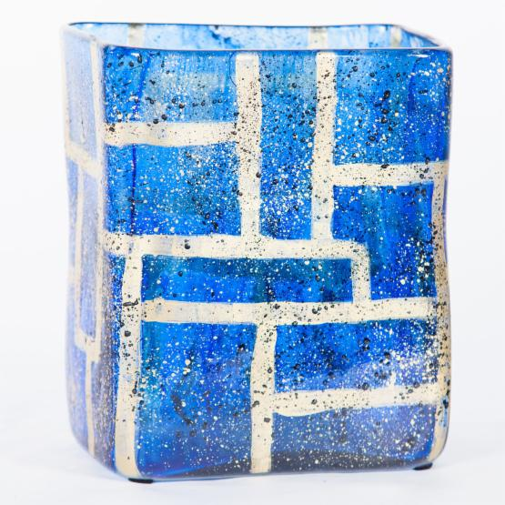 Knox and Harrison Sapphire Rectangles Vase