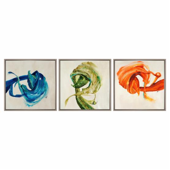 PTM Images Abstract Swirls Canvas Wall Art - Set of 3