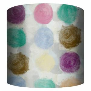PTM Images Color Dots Drum Lamp Shade