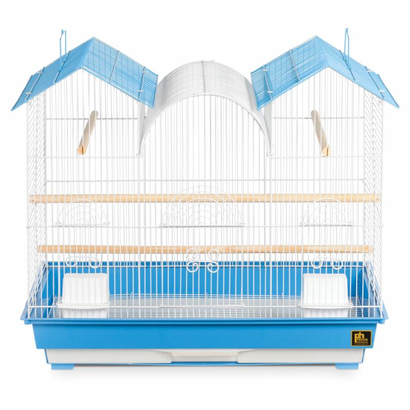 Prevue Hendryx Triple Roof Bird Cage Blue & White - Sp1804tr-1