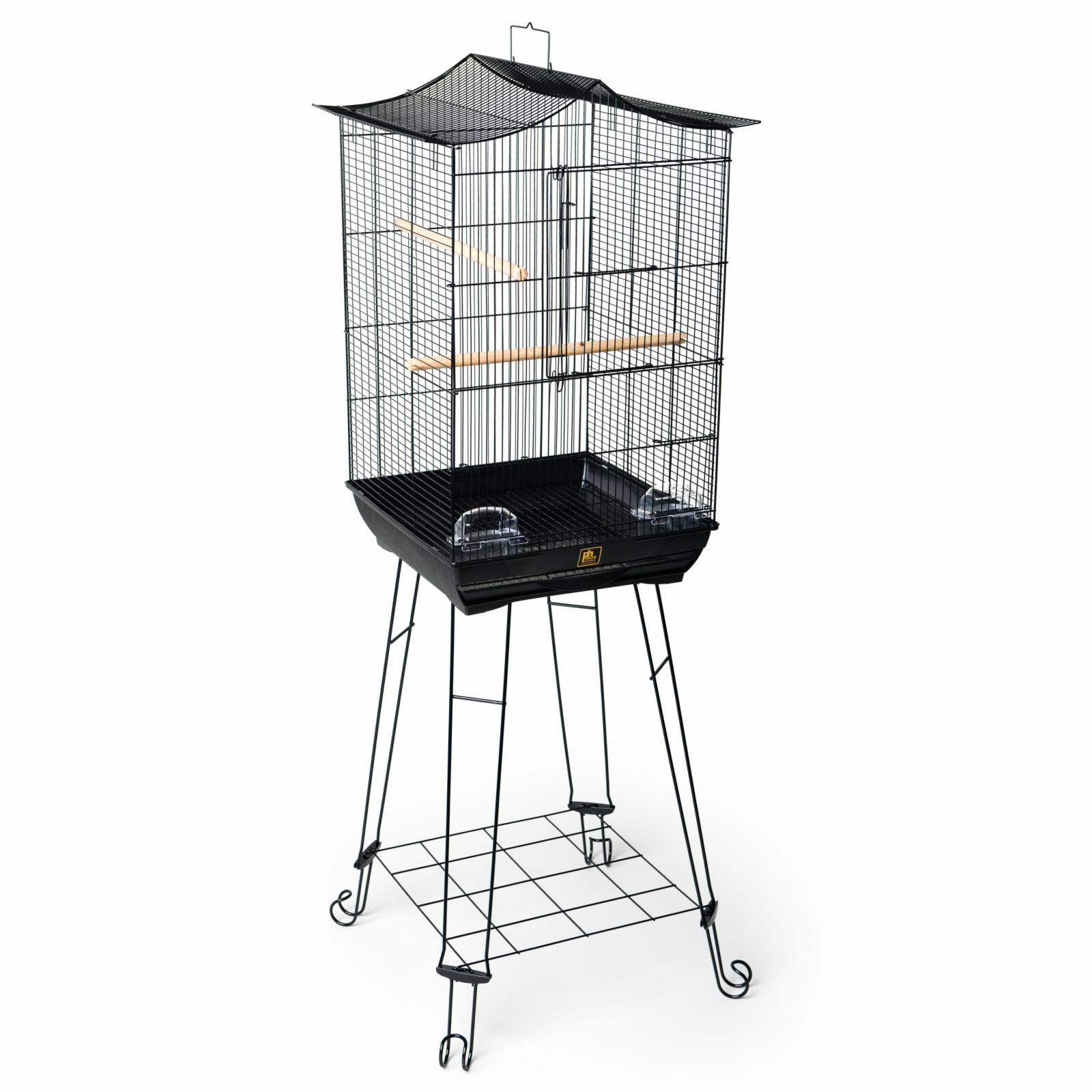 Prevue Pet Products Penthouse Suites Crown Roof Bird Cage with Black Stand - 262