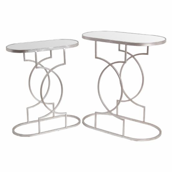 Privilege International Iron Stands - Set of 2 - Silver