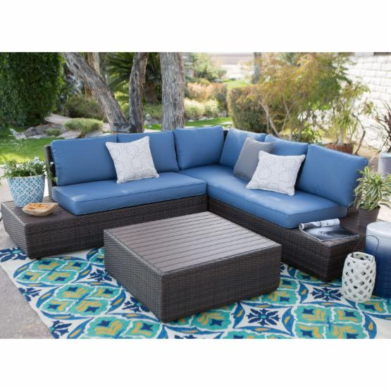 Belham Living Luciana Bay All-Weather Wicker Loveseats with Cushions