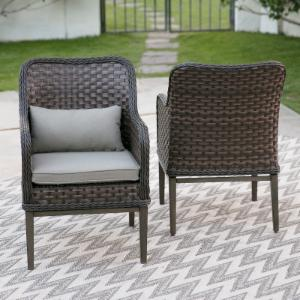 Belham Living Lake Como All Weather Wicker Patio Dining Chair  - Set of 2